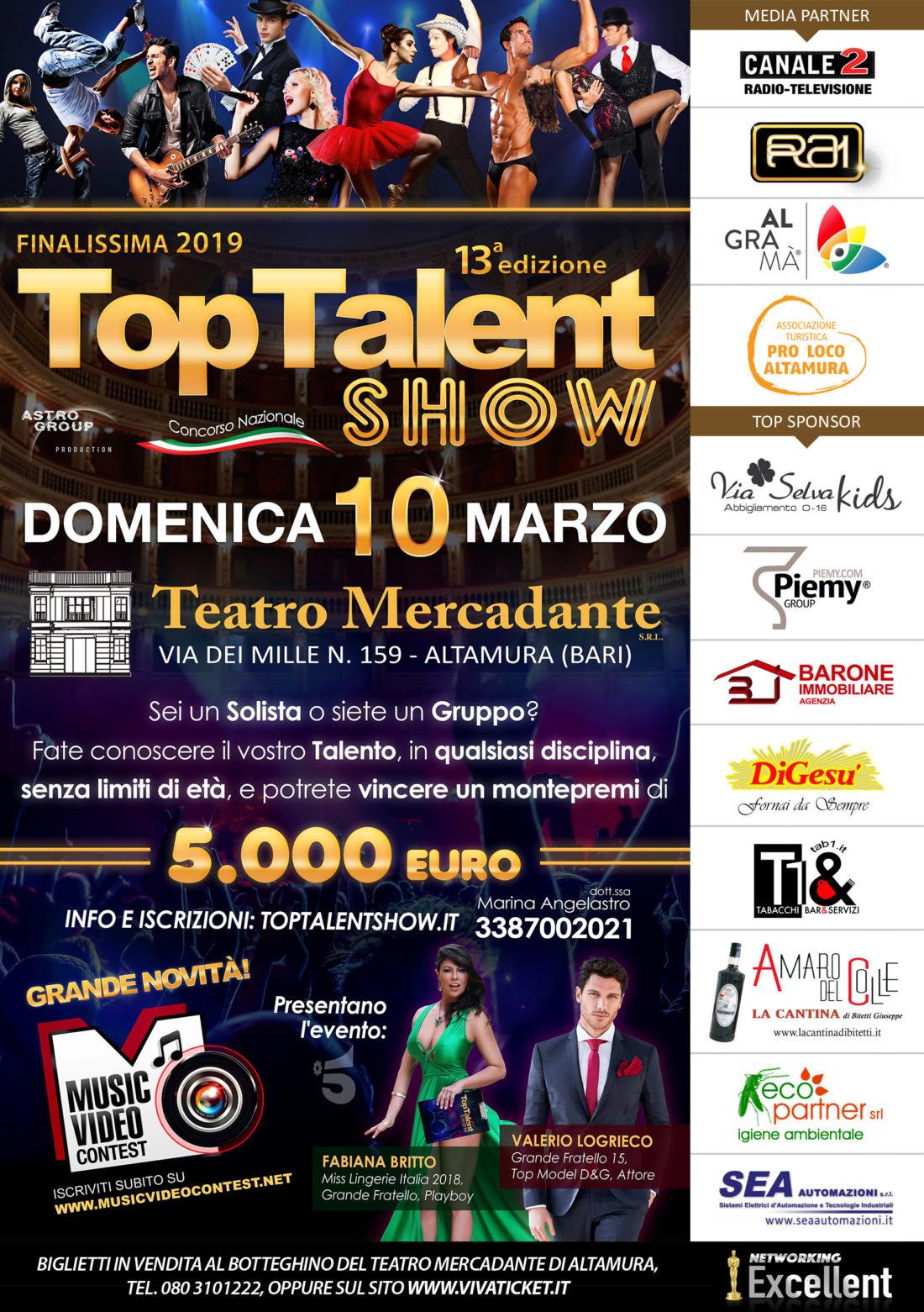 Locandina Top Talent Show 2019