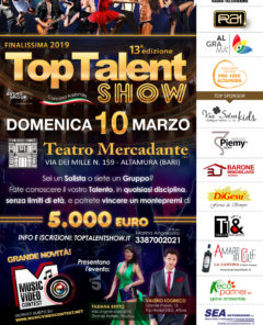 Locandina Top Talent Show 2019